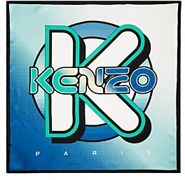 Kenzo Logo Graphic Silk Scarf