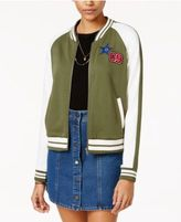 Almost Famous Juniors' Patch Knit Bomber Jacket