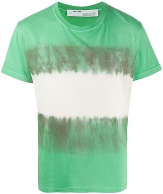 Off-White Arrow tie dye skinny T-shirt