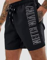Calvin Klein Intense Power logo swim shorts in black