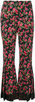 Dolce & Gabbana rose print flared trousers