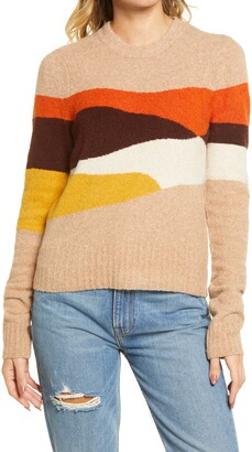 Faherty Summit Intarsia Crewneck Sweater