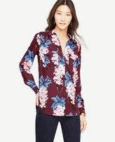 Ann Taylor Petite Pretty Petals Camp Shirt