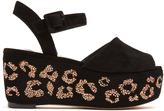 Sophia Webster Suki crystal-embellished suede flatform sandals