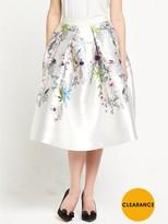 Ted Baker Passion Flower Full Skirt - Ivory
