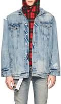 Warren Lotas Men's Distressed Denim Jacket