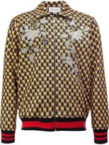 Gucci embroidered geometric bomber jacket - men - Silk/Cotton/Acrylic/Spandex/Elastane - XS