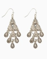 Charming charlie Mirrored Droplet Chandelier Earrings