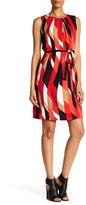 Chetta B Sleeveless Printed Bow Dress