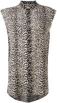 Saint Laurent leopard print sleeveless shirt