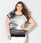 Avenue Jacquard Graphic Striped Top
