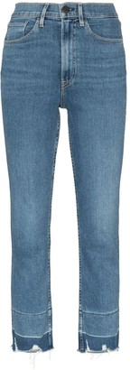 3x1 Shelter cropped frayed jeans