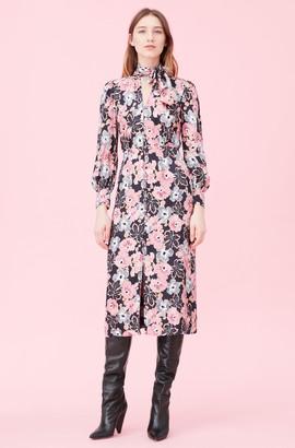 Rebecca Taylor Jardin Fleur Silk Jacquard Dress