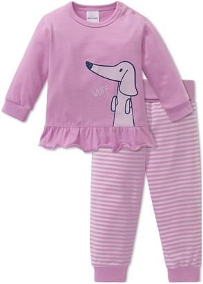 Schiesser Baby Girls' Puppy Love Anzug 2-teilig Pyjama Sets