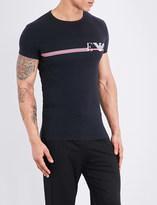 Emporio Armani Line logo stretch-cotton T-shirt