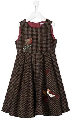 Dolce & Gabbana Kids Applique Check Pattern Dress