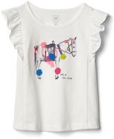 Gap Embroidery graphic flutter tee