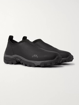 A-Cold-Wall* Dirt Mock Leather And Neoprene Slip-On Sneakers