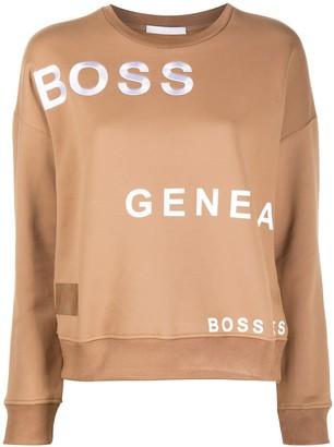 HUGO BOSS All-Over Logo Sweatshirt