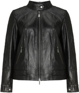 Jette Joop Plus Size Biker style leather jacket