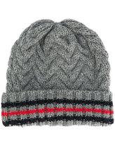 Thom Browne stripe detail beanie hat