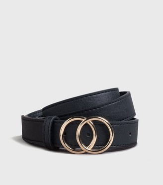New Look Leather-Look Double Circle Belt