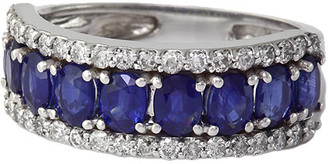 Effy Fine Jewelry 14K 2.61 Ct. Tw. Diamond & Sapphire Ring