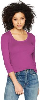 Three Dots Women's Heritage Knit 3/4 SLV Short Tight top