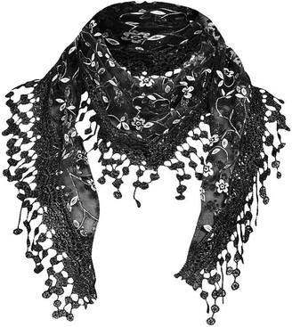 Amaone Women Scarves Ladies Beautiful Rose Pattern Print Chiffon Shawl Wrap Wraps Scarf Scarves