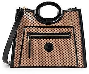 Fendi Women's Large Runaway Perforated Leather Shopper