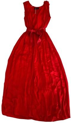 Carolina Herrera Red Silk Dress for Women