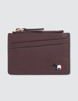 MAISON KITSUNÉ Tricolor Zipped Card Holder Leather