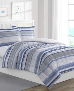Mytex Chase Stripe 2-Piece Reversible Twin Comforter Set Bedding