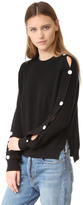 Helmut Lang Cotton Cashmere Button Sweater