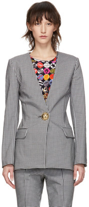 Opening Ceremony Black and White Check Tailored Blazer