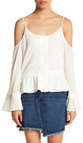 Jessica Simpson Jenna Cold Shoulder Embroidered Blouse