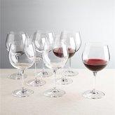 Crate & Barrel Set of 8 Viv Red Wine Glasses