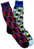 Jared Lang Grid Crew Sock - Pack of 2