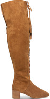 Michael Kors Harris Embellished Suede Over-The-Knee Boots