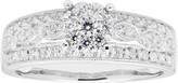 Lovemark 10k White Gold 1/2 Carat T.W. Diamond Cluster Ring