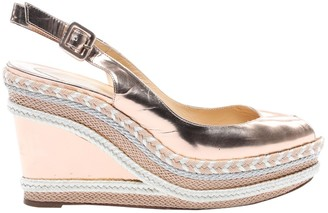 Christian Louboutin Pink Patent leather Espadrilles