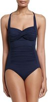 Seafolly Twist Halter One-Piece Swimsuit, Indigo