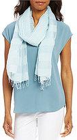 Eileen Fisher Mixed-Stripe Organic Cotton & Silk Scarf