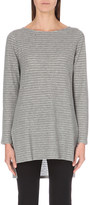 The White Company Jacquard-stripe knitted jumper