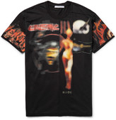 Givenchy Columbian-Fit Distressed Printed Cotton-Jersey T-Shirt