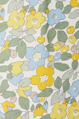 Horror Vacui Kristina Ruffled Floral-print Cotton-poplin Top - Green