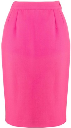 Yves Saint Laurent Pre Owned High-Rise Pencil Skirt