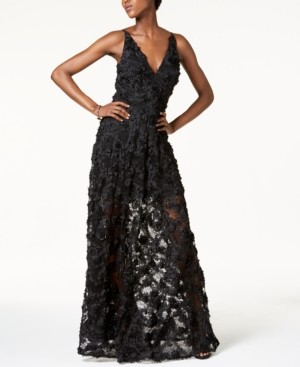 Xscape Evenings Floral Lace Gown