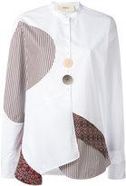 Ports 1961 contrast panel shirt - women - Cotton/Viscose/polyester - 42