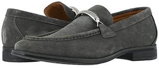 Stacy Adams Pasqual Moc Toe Bit Slip-On (Black Suede) Men's Shoes